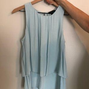 Jcrew light blue sleeveless blouse